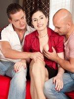 Lorenzia - Blowjob,  Cumshot,  Mature,  Group Sex - Czech Out The Dp'd Milf!