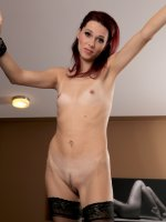 Breanne - Petite 37 year old Breanne from AllOver30 squats on her long dildo