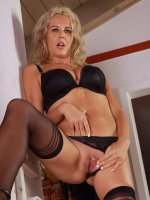 Olga D - 37 year old Olga D from AllOver30 spreads her long mature legs here