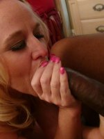 Hot ass blonde gets a good hard fuck from a guy with a huge cock.