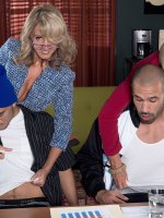 Jenna Covelli,  Scarlet Andrews,  Blowjob,  Cumshot,  Mature,  Group Sex,  How To Suck Dick In Business Wh