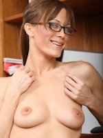 Calista spreads her pussy!