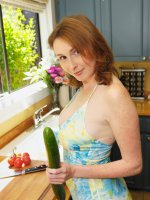 Elli Fucks A Giant Cucumber That is Super Long!