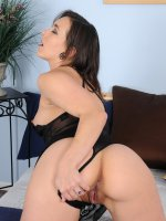 Sinn Sage	Tight assed Sinn Sage slips out of her black lingerie and spreads