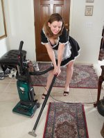 Sally Jones - 30 year old Sally Jones breaks from her housework to open her legs