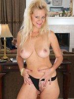 Heidi Gallo - Busty blonde MILF Haidi Gallo slides off her red elegant dress here