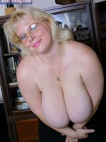 Blond bbw with huge boobs