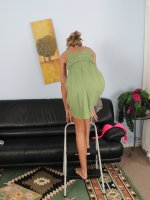 Brynn Hunter	Blonde Brynn Hunter from AllOver30 breaks from her housework