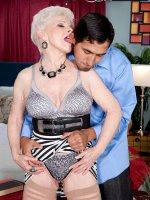 Jewel,  Blowjob,  Cumshot,  Mature,  Now 65,  Jewel Returns For A Creampie