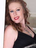 Amber Carlisle - Elegant blonde 31 year old Amber Carlisle gets naked on the stairs