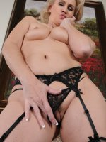 Emerald Rose	At 46 years old Emerals Rose from AllOver30 looks great in lingerie