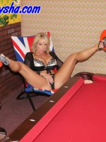 Naughty Alysha shows us that pool balls are good for something else besides pool.