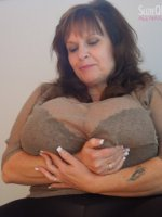 Suzie has a chest big enough for the most demanding tit man. This gigantomastia large breasts milf i