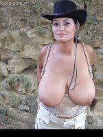 Big boobs supermodel with H cup tits