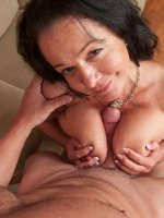 Curvy mature woman Pepper Ann gets fucked hard.