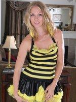 Lara Elaine - Hot blonde 30 year old Lara Elaine from AllOver30 displaying hot ass