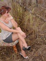 Beautiful MILF Roni in nylons