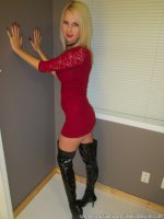 Tall MILF Kylie Deville In Thigh High Boots Sucking Cock!