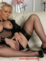 Horny Lana Cox has some christmas fun with her dildo