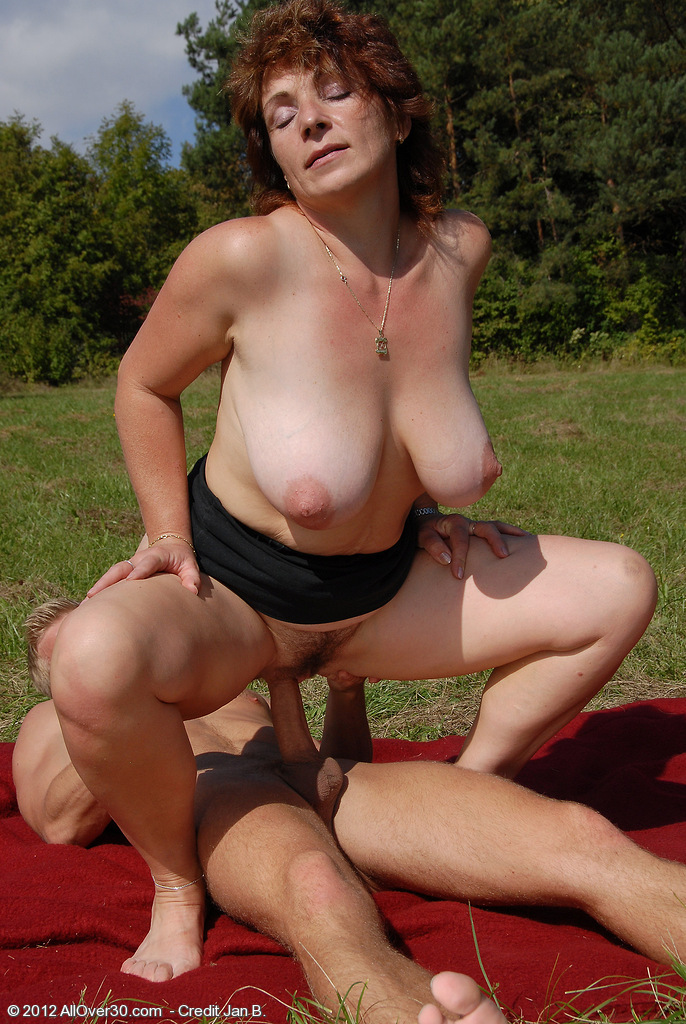 Think, Busty mature outdoors apologise