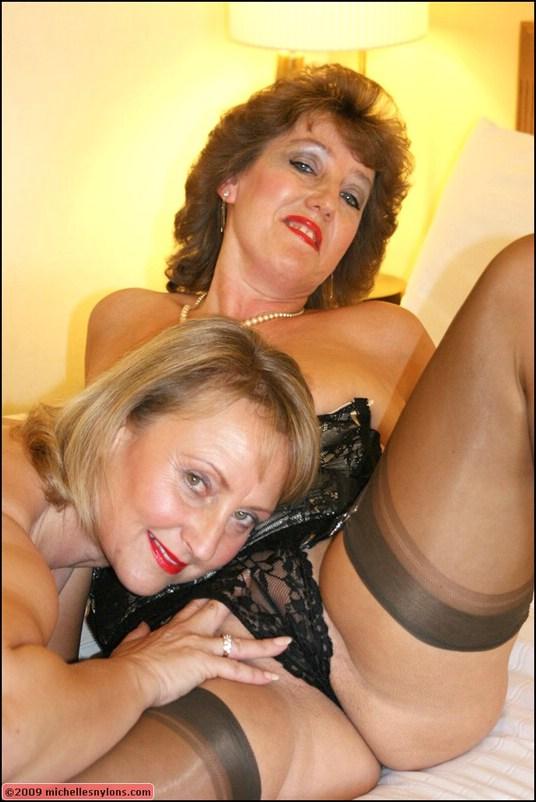 lesbian nylons mature