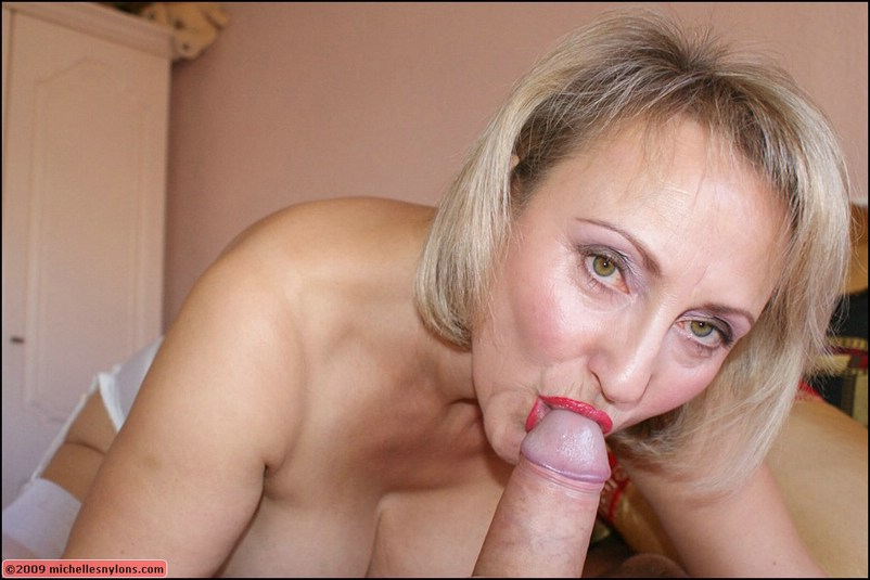 Big boobed mom enjoys his fist and cock in her mature pussy 7