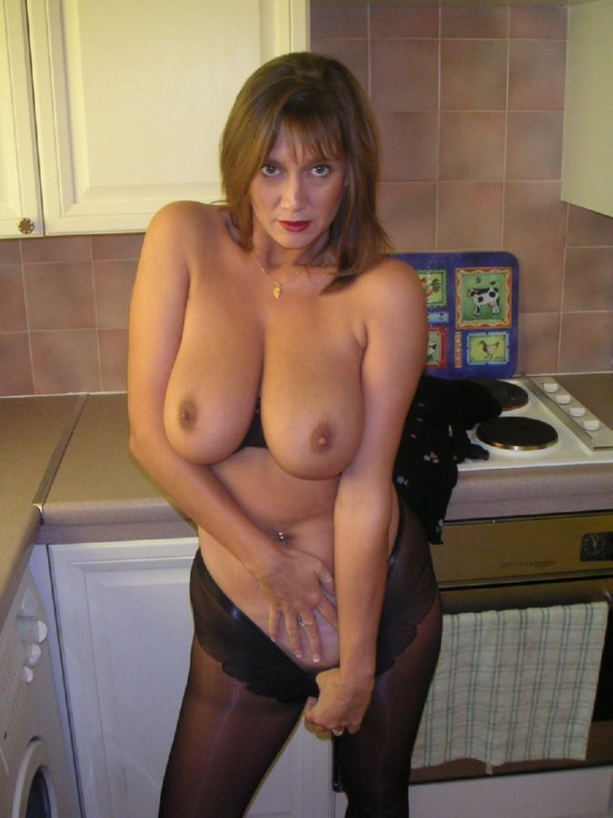 Big titted brunette fingers wet pussy 9
