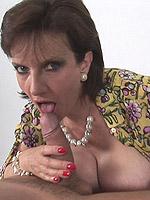 ass big tits blowjob brunette handjob high heels milf titjob