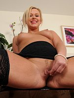 Pretty MILF in sexy lingerie shows her big ass