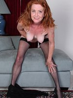 high heels mature redhead shaved pussy stockings tattooed