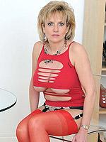 ass big tits blonde high heels milf pantyhose stockings