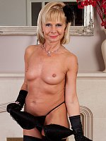 ass blonde high heels mature shaved pussy stockings tattooed