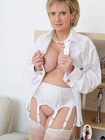 White stockings milf