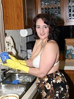 I had a party and I also had lots to drink After many a request to do the dishes in rubber gloves only I was happy to get the job done Would you like