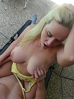 Slut gets fucked hard in the backyard