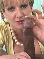 big tits blonde blowjob handjob interracial short hair titjob
