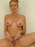 ass big tits blonde mature shower tattooed wet