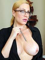 big tits blonde high heels milf shaved pussy tan lines
