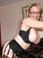 ass big tits blonde fingering high heels milf shaved pussy stockings
