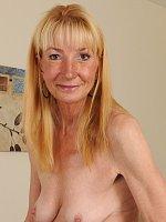 ass blonde granny high heels stockings