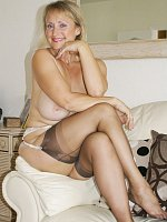 ass big tits blonde high heels milf shaved pussy stockings