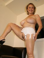 ass big tits blonde high heels milf stockings