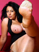 big tits brunette foot fetish high heels milf stockings