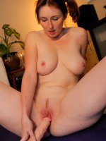Elli's Advanced Yoga Pussy Stretches With Dildo