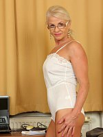 InezBlonde 47 year old Inez from AllOver30 showing off her shaven pussy