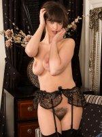Kate Anne - Big Boobs,Hairy Pussy,Tall Girls,Brunette,Long hair,Bras,Lingerie,Thongs,High Heels,Big