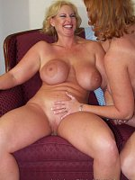 Dawn Marie and Leanne Two Natural Big Tit Moms Get Busy Together!