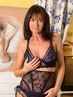 Lucy Heart - Medium Boobs,Big Nipples,Shaved Pussy,Tall Girls,Brunette,Long hair,Bras,Lingerie,Thong