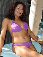 Renee Black - 52 year old Renee Black spreading her legs on the backyard deck