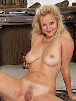 Heidi Gallo - Busty blonde MILF Haidi Gallo slides off her red elegant dress here